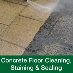 Concrete Floor Cleaning, Staining & Sealing